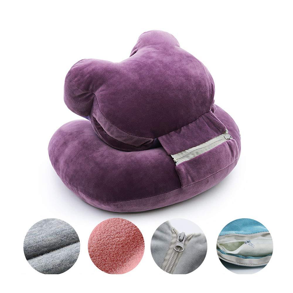 Mystery/&Melody Reading Pillows Lumbar Support Cushion Sofa Chair Back Supports Pillow Bed Rest Lounger T-Shape Cotton Insert Pillows Bear, 55x42x20cm
