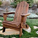Walker Edison AZWAC Acacia Folding Adirondack Outdoor Chair