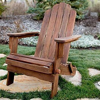 Walker Edison AZWAC Acacia Folding Adirondack Outdoor Chair