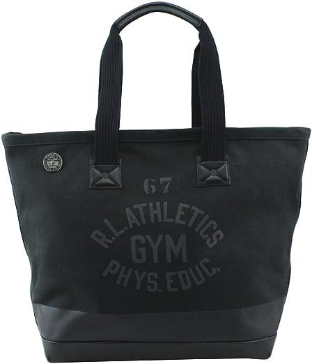 Polo Ralph Lauren Womens Canvas Graphic Tote Handbag Black Extra Large