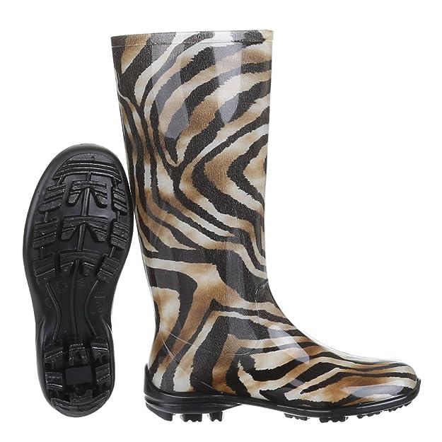 Ital-Design Damen Schuhe, GST-F100P, Regenstiefel Gummistiefel: Amazon.de:  Schuhe & Handtaschen