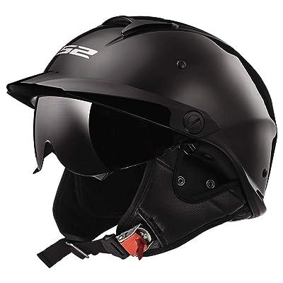LS2 Helmets Rebellion Motorcycle Half Helmet (Black Chrome - X-Small): Automotive