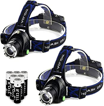 Tactical Rechargeable 350000LM T6 LED 186*50 Headlamp Headlight Head Torch Lamp