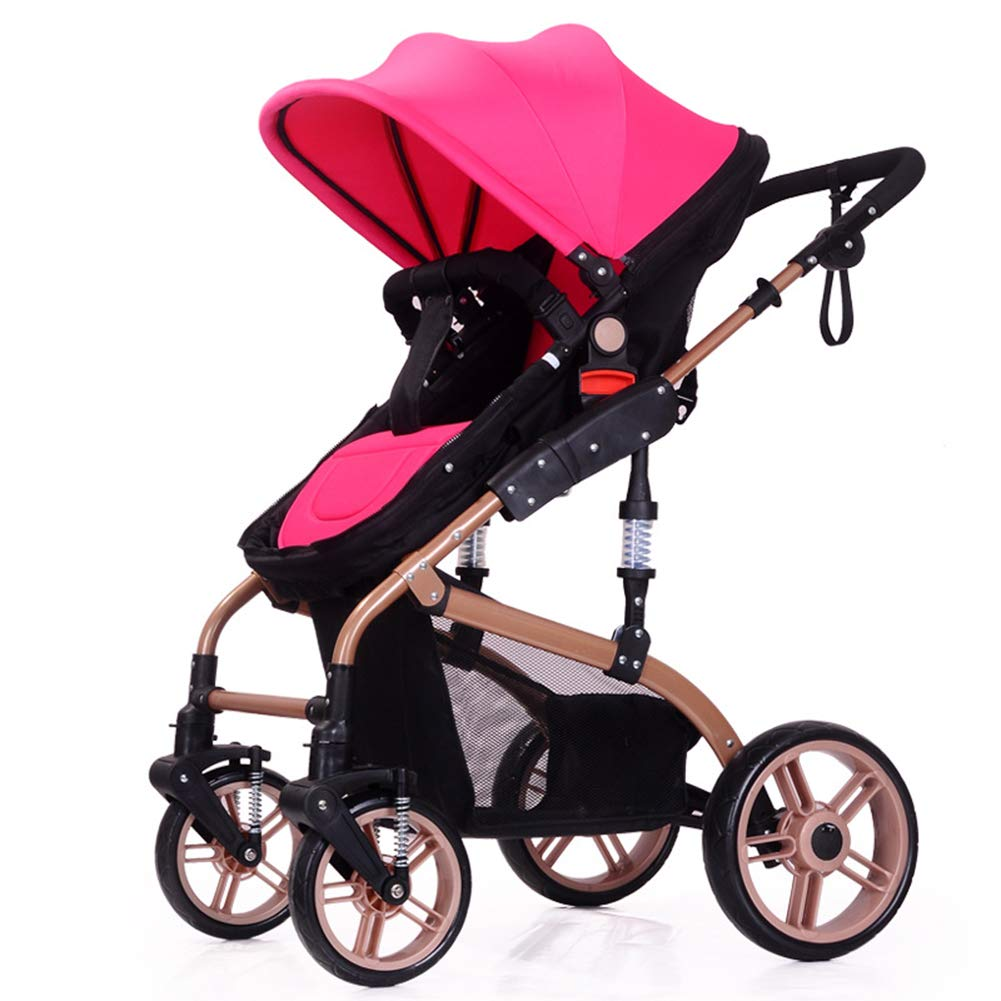 Baby Pram, High Landscape Baby Stroller can sit and Lie Down Two-Way Toddler Pushchair for Babies 0-3 Years Old by WYX-Stroller (Image #2)