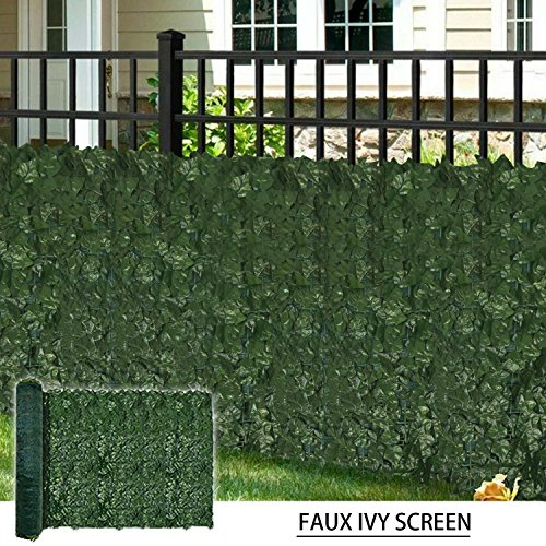(Coarbor 58''X196'' Artificial Faux Ivy Leaf Privacy Fence Screen with Mesh Backing Panels Decorative Perfect for Back Yard Deck Patio Provide More Outdoor Privacy)
