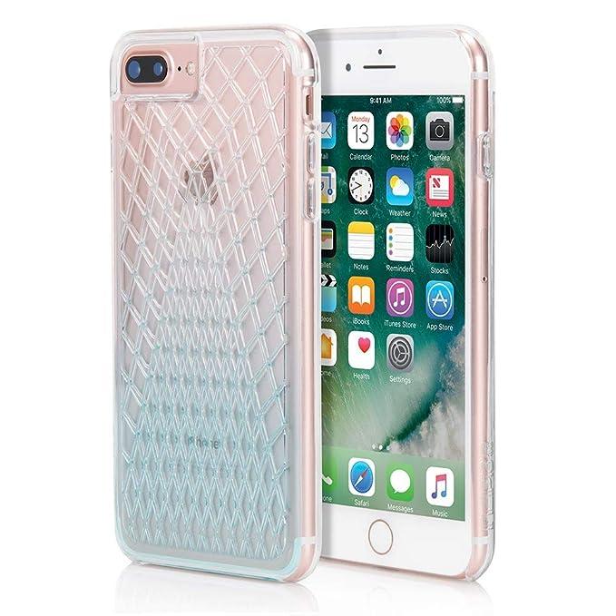 premium selection 40880 7c2d9 Incipio Design Series LUX Case for iPhone 7 Plus, also fits iPhone 6 Plus &  iPhone 6s Plus - Cool Blue