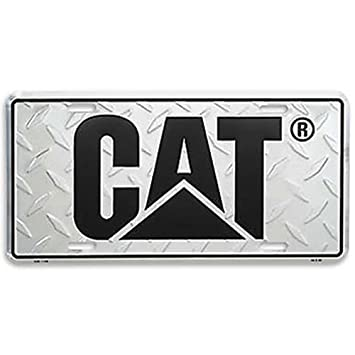 Caterpillar CAT Equipment Treadplate Silver & Black License Plate ...