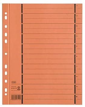 ELBA 06456OG - Separador para archivadores (Pack de 100): Amazon.es: Oficina y papelería