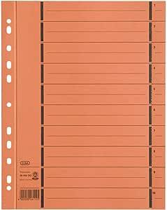 ELBA 06456OG - Separador para archivadores (Pack de 100): Amazon ...