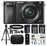 Sony Alpha A5000 20.1 MP Interchangeable Mirrorless Lens Camera with 16-50mm OSS Lens ILCE5000L (Black) with Beginner Accessories Bundle Kit includes 16GB Class 10 SDHC Memory Card + x2 Replacement (1200mAh) NP-FW50 Battery + Home Wall Charger with Car and European Adapter + Professional 60' Inch Photo/Video Tripod + Ultra Violet UV High Definition Filter + Hard Shell Carrying Case + Wireless Shutter Release Remote + Camera Lens Cleaning Kit + Bonus $50 Gift Card for Digital Prints