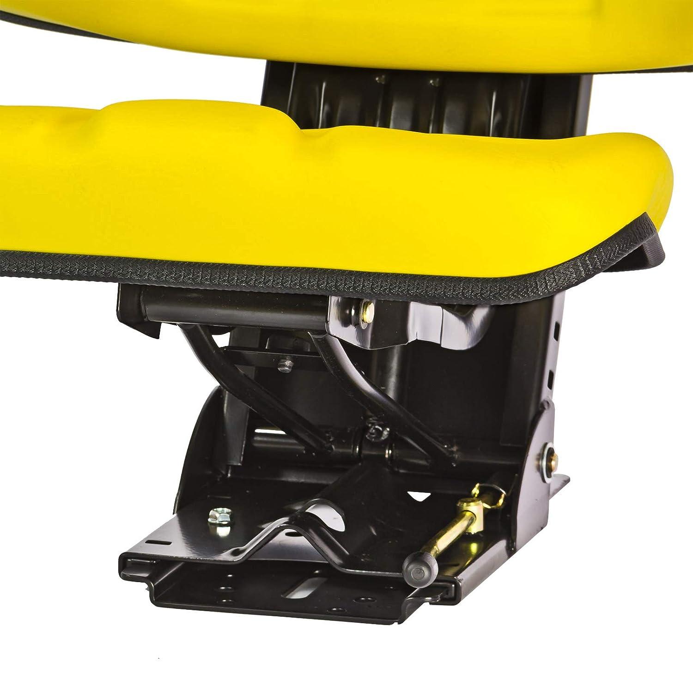 DEMA Tractor Asiento Amarillo con reposabrazos