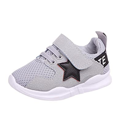 Sunbona Baby Boy's Girl's Star Mesh Light Weight Breathable Strap Sneakers Casual Sports Running Shoe