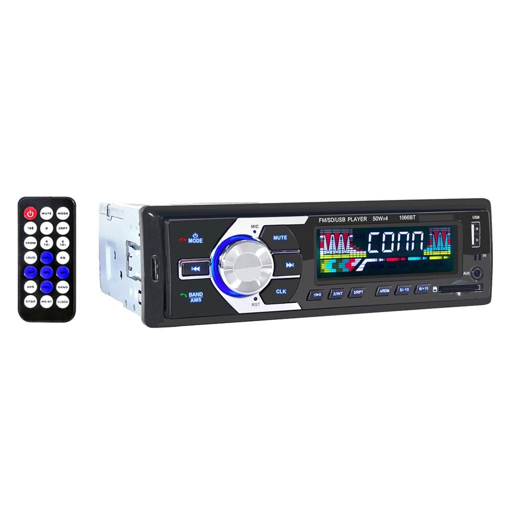 MagiDeal 12v Autoradio Bluetooth Telecomando Stereo Mp3 USB SD AUX FM 1066bt
