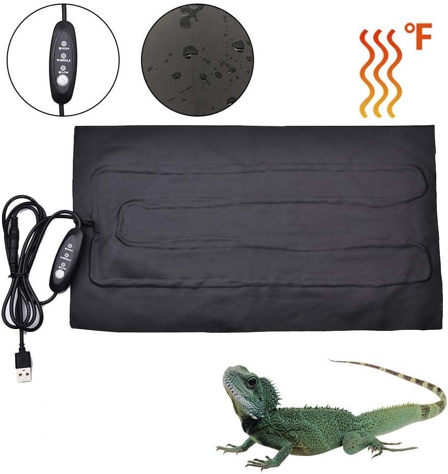 Tankw/ärmer-Matte mit Zeitschaltertemperaturregelung cineman Reptilien-Heizmatte Schlangen USB-Heizmatte f/ür Reptilien Schildkr/öten Echsen einstellbare Reptilien-Heizmatte