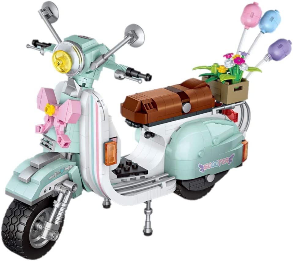 LOZ inFUNity Moped Gas Scooter Building Blocks Toy Model (673 PCS) for Creator Expert Fans, English Box and Instruction