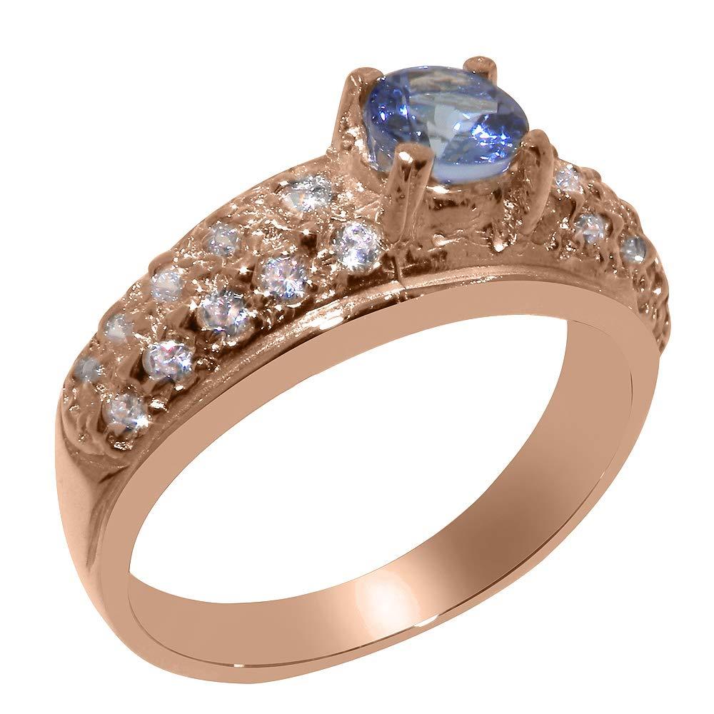 英国製(イギリス製) K9 ピンクゴールド 天然 タンザナイト 天然 ダイヤモンド レディース リング 指輪 各種 サイズ あり   B07TJZW7GW