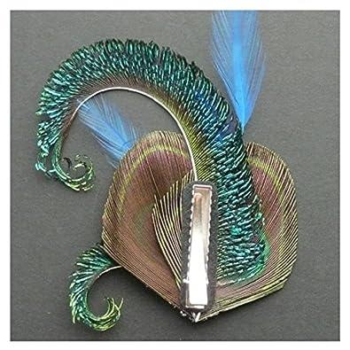 Jelinda/® Femmes Pince /à Cheveux en Plume de Paon pour Mariage Accessoire de cheveux