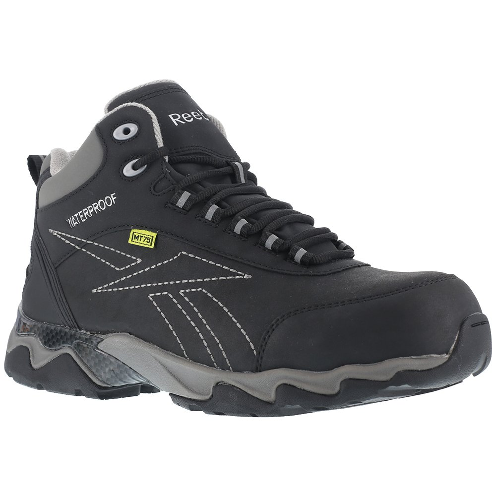 Reebok Work Women's Beamer RB167 Internal Met Guard Waterproof Hiker,Black,US 9.