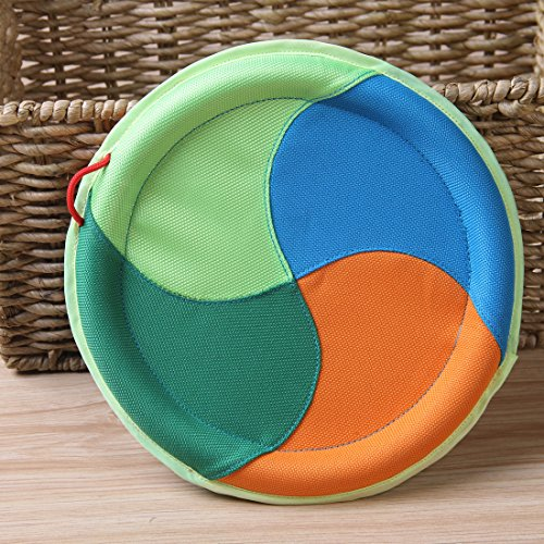 EETOYS Pet Dog Toys Pet Training Flying Discs Frisbee Interactive Biting Linen Toys Four-color Frisbee