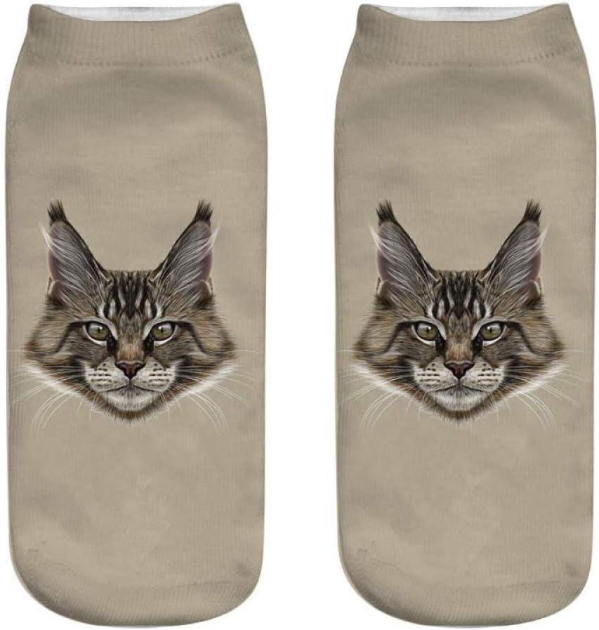 FHCGWZ 5 Teile//Satz Katze Socken 3D Drucken Weibliche Socken Frauen Low Cut S/öckchen L/ässige Strumpfwaren Gedruckt Socke
