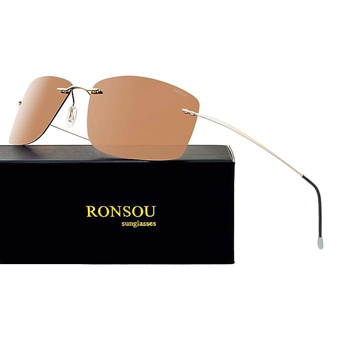 Amazon.com: Ronsou - Gafas de sol polarizadas para ...