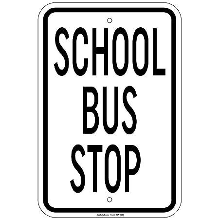 Tarfy School Bus Stop Retail Retro Vintage Cartel de Chapa ...