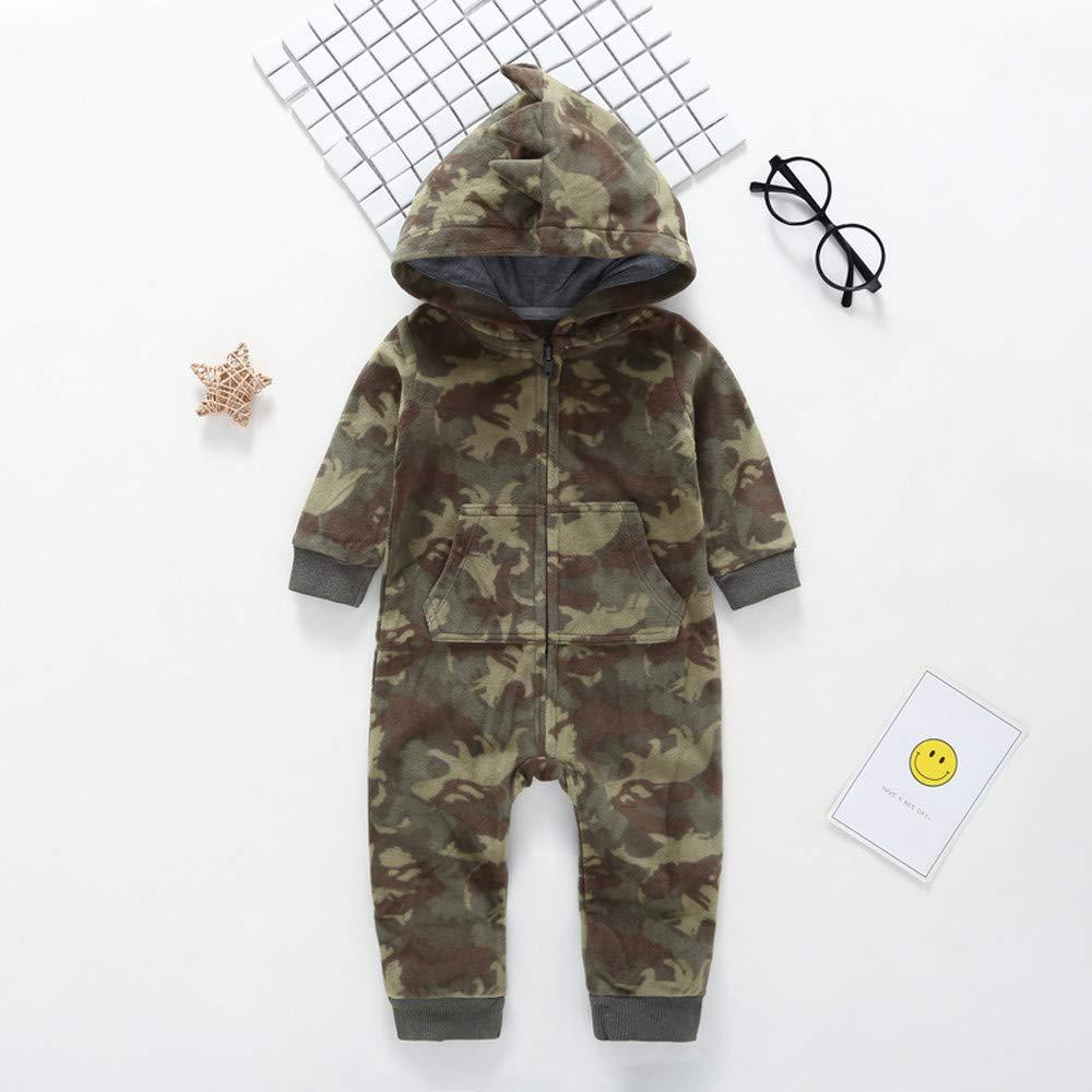 Kinlene Neonato Infantile Camouflage Incappucciati Pagliaccetto Tuta Outfits Vestiti Caldi