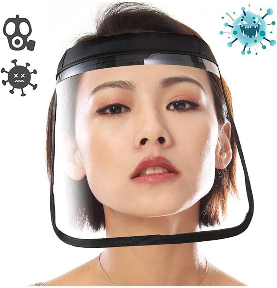 Donnie Timmy Transparente Protector Facial - Anti-Escupir Seguridad Industrial Careta - el Visera de Protector de Cara con Visera Clara para Taller de Cocina de Limpieza