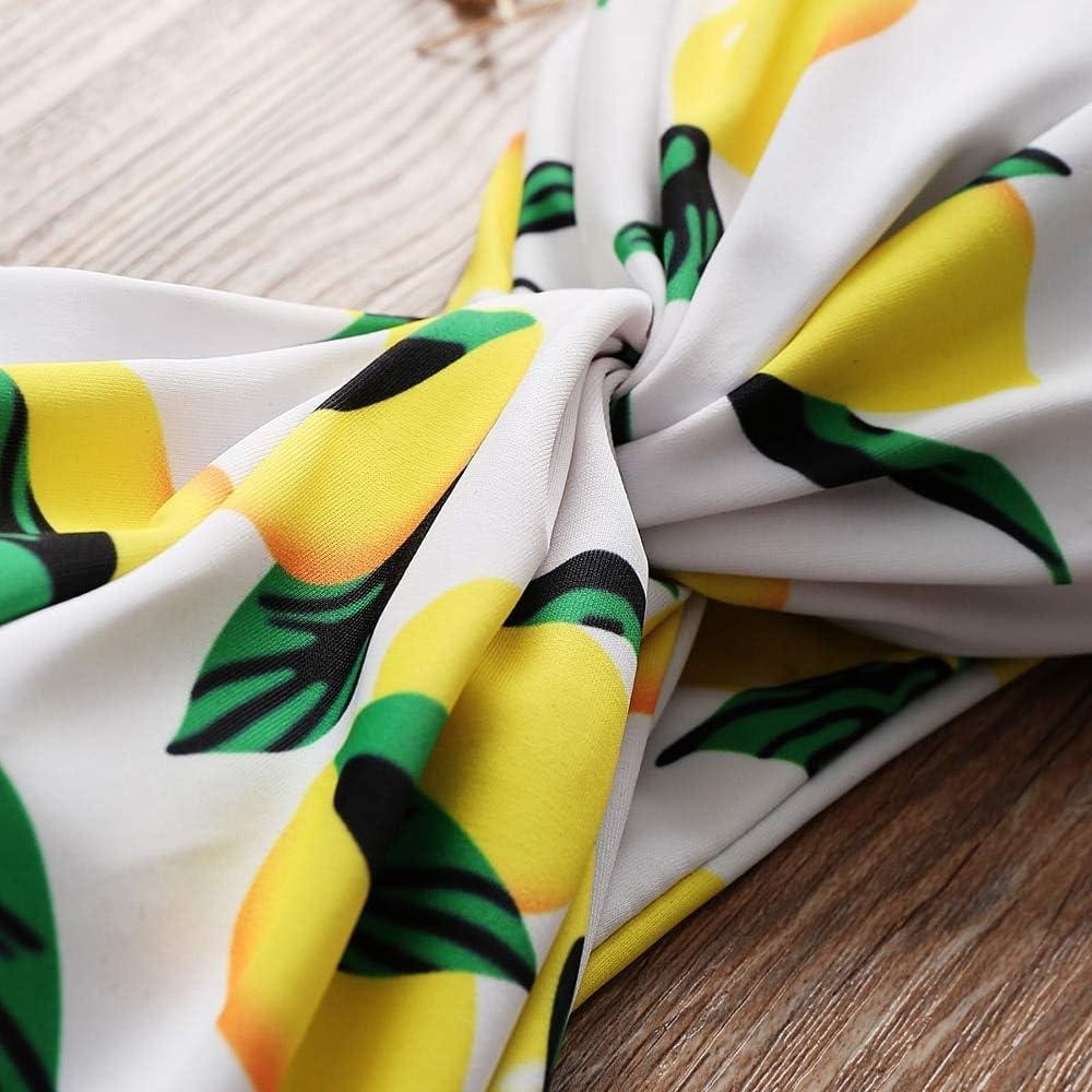 ZAFUL Womens Strapless Pineapple Print High Cut Bandeau Bikini Set