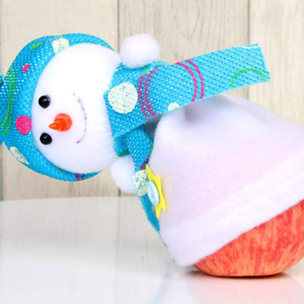 YaptheS Christmas Eve Cute Wrapping Snowman Shaped Candy Cookie Apple Bags Christmas Decoration Supplies-Blue Christmas Gift by YaptheS (Image #2)