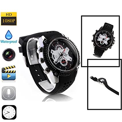 omoup 1080P HD reloj espía cámara IR Visión Nocturna Digital Video Recorder