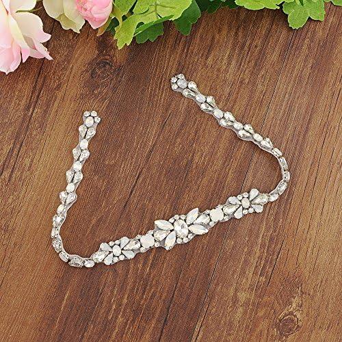 ULAPAN Womens Crystals Diamonds Wedding Belts Sash Rhinestones Bridal Belt Sashes for Wedding Dress,S319