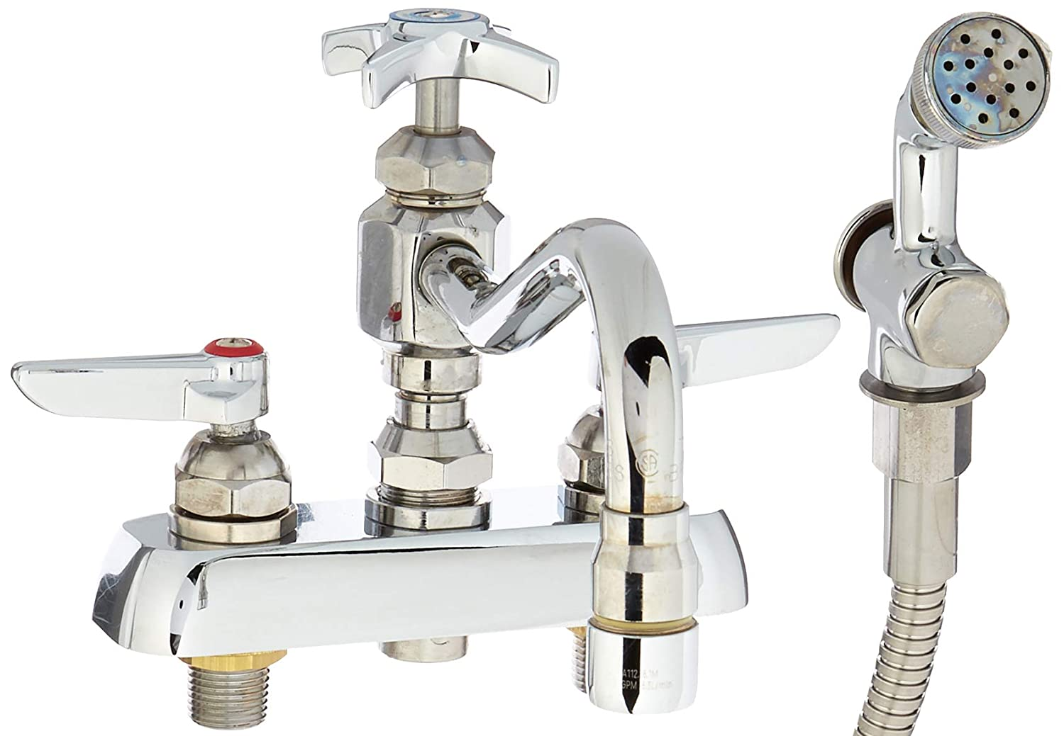 """4/"""" Deck Mount Sink Faucets with 8/""""Swing Spout"""