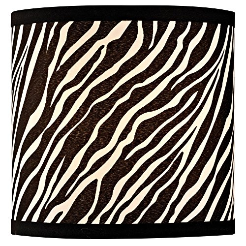 Zebra Drum Lamp Shade with Uno Assembly