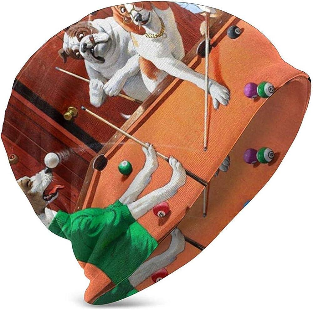 Gorros Unisex Gorros Perros Jugando Al Billar Gracioso Estampado De Perros Sombrero De Punto Gorra De Calavera Sombreros Cálidos De Verano para Niñas Niños Negro: Amazon.es: Ropa y accesorios