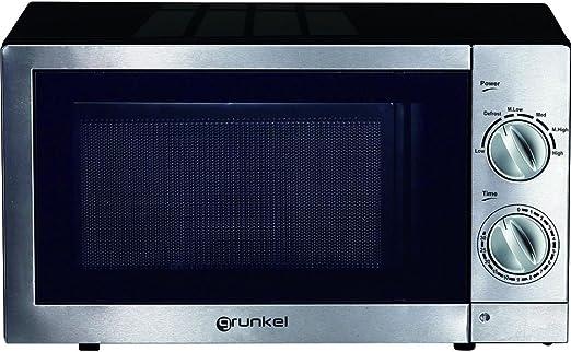Grunkel - Microondas con grill de 20 litros de capacidad en acero ...