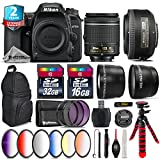 Holiday Saving Bundle for D7500 DSLR Camera + 35mm 1.8G DX Lens + AF-P 18-55mm + 6PC Graduated Color Filter + 2yr Extended Warranty + 32GB Class 10 Memory + Backpack + 16GB - International Version