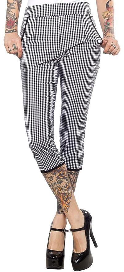 Sourpuss Lucy Gingham Capri Pants $44.19 AT vintagedancer.com