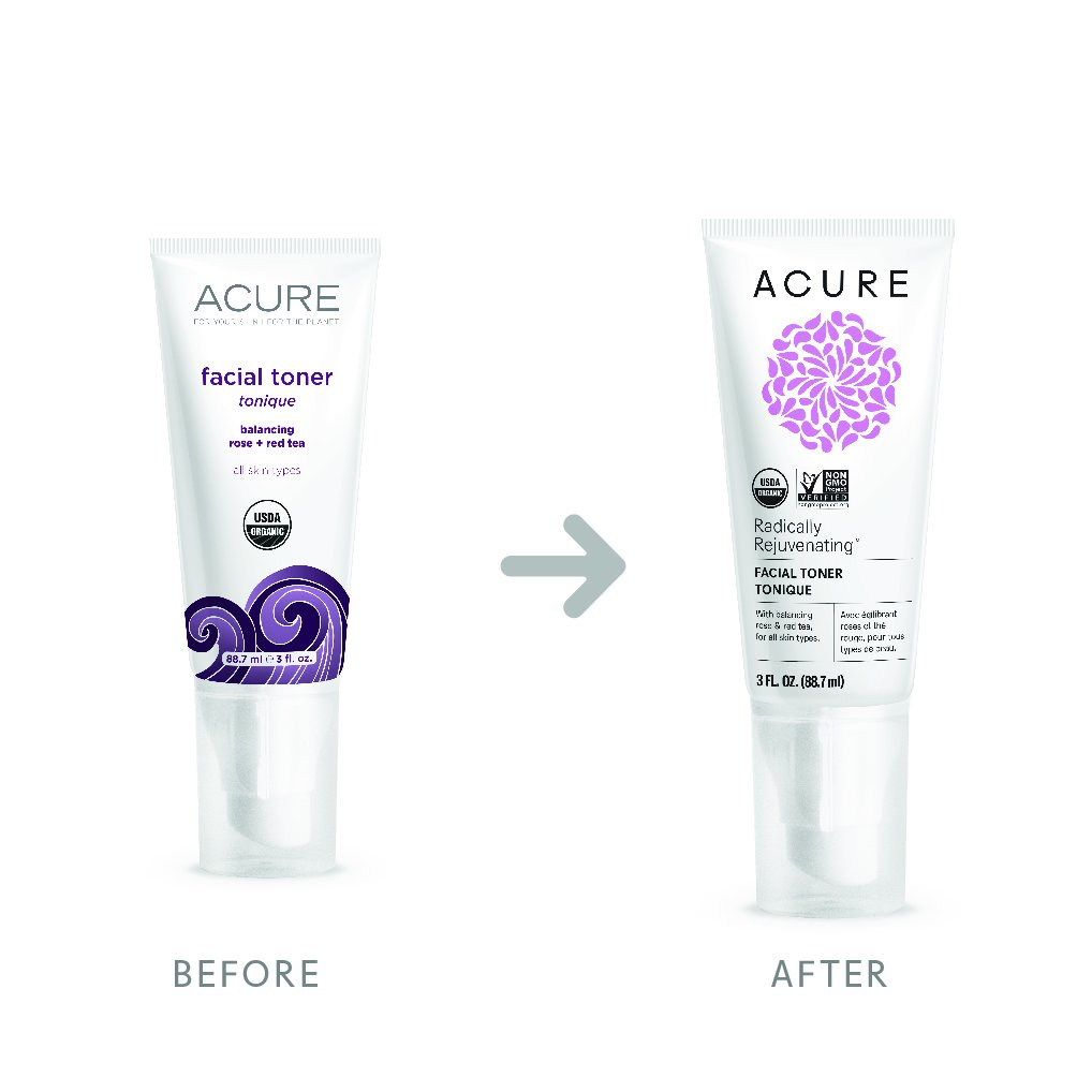 Acure Radically Rejuvenating Facial Toner, 3 Fluid Ounces Packaging May Vary