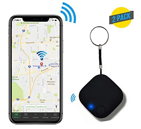 Smart Key Tracker Anti Lost Wireless Phone Finder Keep Track of Your  Valuables Wallet Finder Lost Alarm Compatible Android & iOS (Pack of 2  Black)