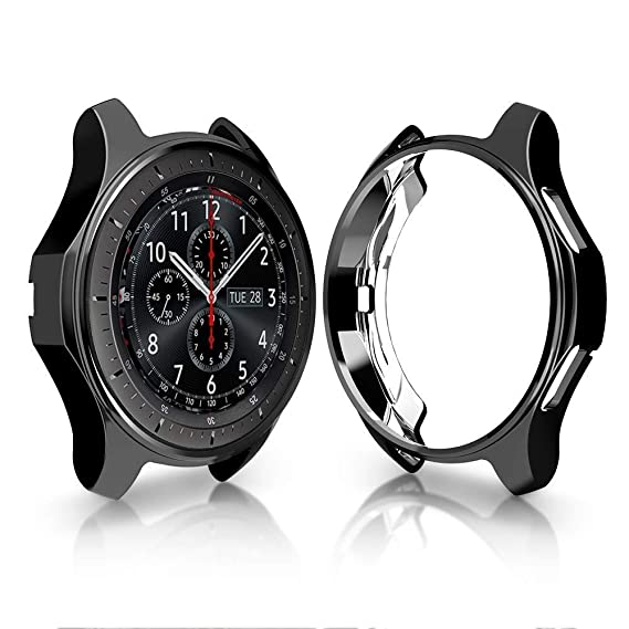 iHYQ Case for Samsung Gear S3 Frontier SM-R760,TPU Scractch-Resist Shock-Proof All-Around Protective Bumper Shell Protective Band Galaxy Watch SM-R800 ...