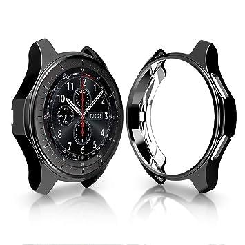 KTcos Estuche para Samsung Gear S3 Frontier SM-R760, Soft TPU Plateado [Scratch-Proof] Allround Protector de Parachoques Shell para Samsung Gear S3 ...