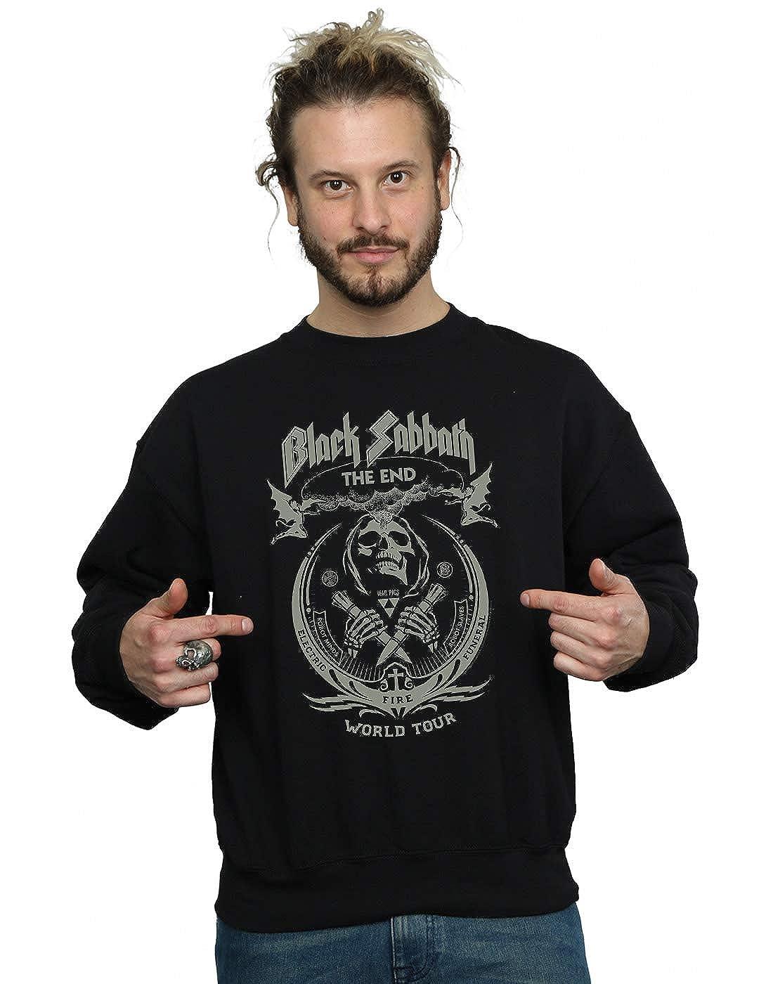 Absolute Cult schwarz Sabbath Herren The End World Tour Sweatshirt