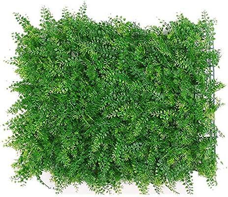 QiHaoHeji Jardin Vertical Artificial De Interior Al Aire Libre Cercado Decoración De La Yarda 12 del Panel Plantas De Cobertura Pantalla De Privacidad Almohadilla UV Artificial Plantas Artificiales: Amazon.es: Hogar