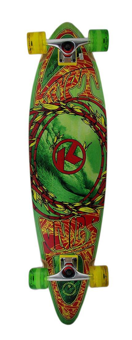 2019激安通販 38 in. Longboard by Complete Green Kryptonics Pintail Longboard w in./Wave Graphics by Kryptonics B0176X551W, 松尾捺染:e8459d9c --- a0267596.xsph.ru