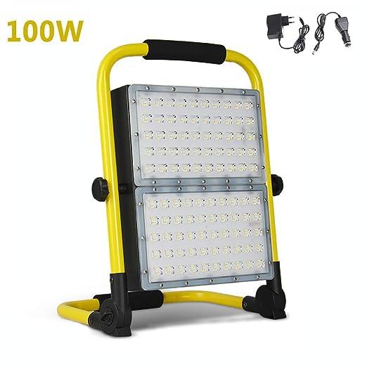 100W Foco Proyector LED Blanco Cálido, 8000LM portátiles ...