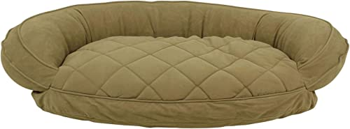 Carolina Pet Quilted Bolster Bed for Pets with Moisture Barrier Protection, Small, Sage
