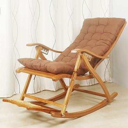 Amazon.com: ZHIRONG - Sillas plegables de bambú para ...