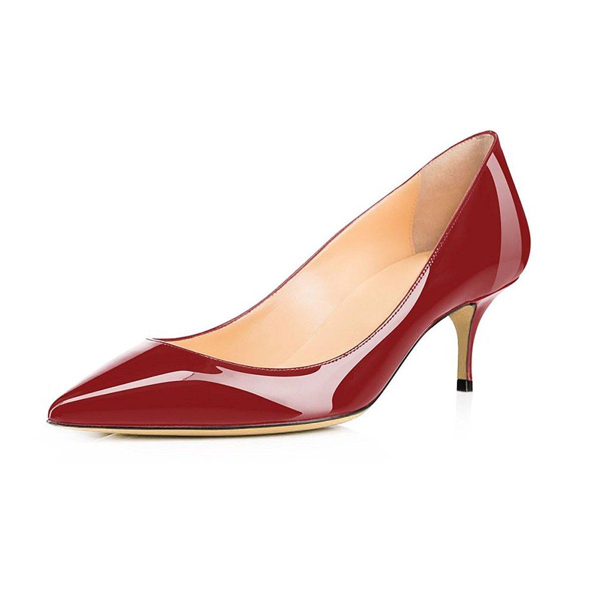 0232e585e256c Soireelady Escarpins Femme à Talon Moyen Élégante Club Soiree Bureau  Chaussures  Amazon.fr  Chaussures et Sacs