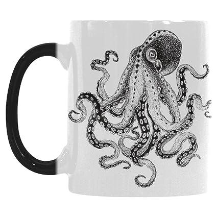 Amazoncom Interestprint Octopus Kraken Morphing Mug Heat Sensitive